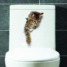 3D Wandsticker Wandtattoo Badezimmer  niedliche Katze ca. 25 cm x 19 cm
