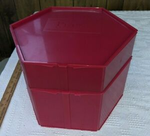Piatto Bakery Box Cakes Cookies Carrier Set of 2 Red