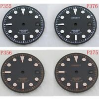 30.5mm Luminous Black Dial Fit Miyota 8205/8215,Mingzhu DG2813 Movement Watch