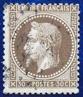 France oblitéré, n°30, 30c brun Napoléon III, empire français, 1867