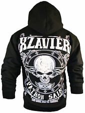 SALE! XZAVIER [SKULL PATRON SAINT] HOODIE ZIPPER PULLOVER ROCKER BIKER 666 ROCKA