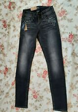 Silver Jeans Tuesday MID rise Skinny Straight Womens W25 L31 New with Tags Black