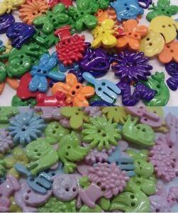Garden Theme Shaped Buttons - Choice of Colour, Shape & Quantity