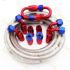 AN10 -10AN Stainless Steel Braided Fuel Line Fitting Hose End Adaptor Kit 16FT