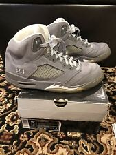 NIKE AIR JORDAN RETRO 5 V WOLF GREY SIZE 10.5 Pre Owned