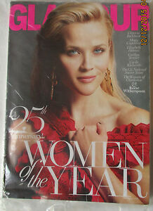 GLAMOUR MAGAZINE DECEMBER 2015 - 25TH ANV WOMEN OF YEAR & REESE WITHERSPOON -NEW