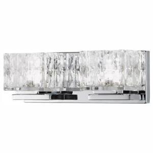 Home Decorators Collection 60-Watt Equivalent 2-Light Chrome Integrated LED
