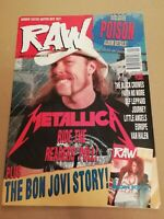 RAW MUSIC MAGAZINE NO.114 JANUARY 1993 METALLICA BON JOVI POISON JOURNEY EUROPE
