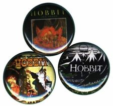 Hobbit or There and Back Again Book Covers Set of 3 Buttons-Pins-Badges