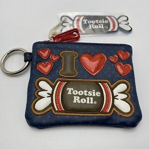 Tootsie Roll Candy Purse Coin Wallet Clutch Wristlet Zipper Pouch Bag Loungefly