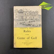 """VINTAGE 1950 'RULES OF THE GAME OF GOLF"""" ROYAL ANCIENT ST. ANDREWS BOOK SYDNEY"""