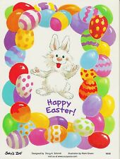 Suzys Zoo Stickers 25 Sheets Spring Happy Easter Bunny Rabbit Egg Border