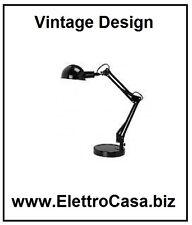 Lampada da Tavolo Studio Moderna Design Vintage Nera per la scrivania Lettura