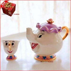 Beauty And The Beast Teapot Mrs Potts Chip Tea Pot Cup Set Best Gift 2021