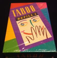 TABOO Game REFILL #1~NEW~Expansion to Original Game~378 Cards+Score Pad~Sealed!