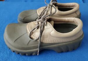 Crocs Axle All Terrain M 11 Brown Leather Upper Duck Brown Lace Up Shoe