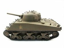 Complete Metal 1/16 Mato Sherman KIT Infrared Recoil RC Tank Army Green 1230