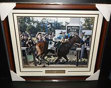 BELMONT STAKES Triple Crown AMERICAN PHAROAH Victor Espinoza FRAMED 16X20 PHOTO