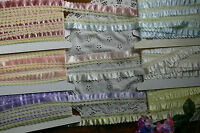SATIN Edged Ribbon Thread LACE 35mm Wide - 2 to 5 Metres - 6 Colour Choice Flt1