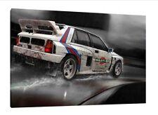 LANCIA DELTA HF INTEGRALE - 30x20 pollici foto su tela incorniciato Gruppo B Rally Stampa