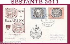 SAN MARINO FDC CAPITOLIUM 86 SERIE ALLEGORICA 1972  (243)