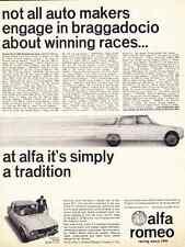1965 ALFA ROMEO GIULIA TI SEDAN  ~  CLASSIC ORIGINAL PRINT AD