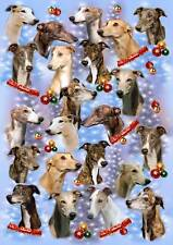 Greyhound Dog Christmas Wrapping Paper By Starprint - Auto combined postage