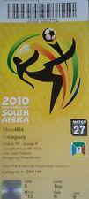 Billet FIFA Coupe du Monde 2010 Slovaquie-Paraguay match 27 # Bloemfontein