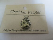 Sheridan Ladybug Pin Brooch Fine Pewter Handcrafted Signed Mint on Card