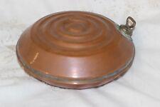 Antique Cuivre lit chaud bouteille d'eau chaude pied/Chauffe-main
