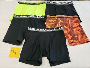 Under Armour Boys Underwear Original Series Briefs Lot of 5 Pack Youth Large