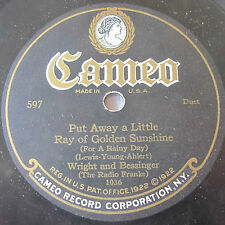"""Cameo 597 10"""" 78 RPM record Bernard and Robinson, Wright and Bessinger"""