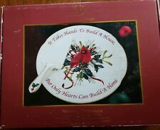 Lenox Winter Greetings Cardinal Holiday Cake Plate And Server Set In Box