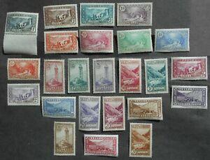 Andorra 1932 regular issue, Yv #24-45, MNH, CV=925EUR