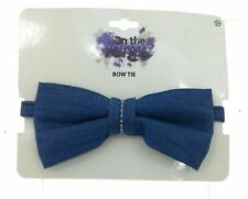 On The Verge Boys Blue Adjustable Bow Tie