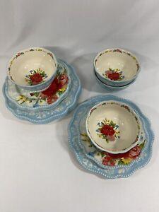 12pc Pioneer Woman Sweet Rose Dinnerware Set New
