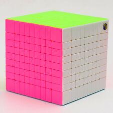 YX 9x9x9 Professional Magic Cube Twist Puzzle Education Toys Rainbow Stickerless