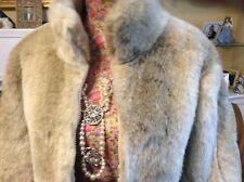 Elle Fox Beige Fur Jacket Size 16 Bnwt.       Hols 3/12