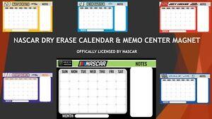 NASCAR Magnetic Dry Erase Calendar & Message Center-Choose your favorite driver