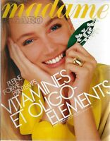 MADAME FIGARO 2/05/1987 PLEINE FORME PRINTEMPS - VITAMINES - MODE EN JAUNE