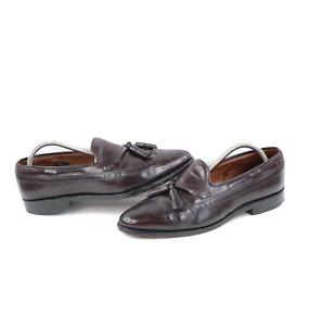 Allen Edmonds Manchester Mens 9 D Leather Wingtips Tassel Loafers Dress Shoes