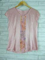 BASLER Top/Blouse Sz 10/12? Pink Silk