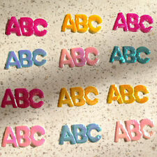 200 Mix Iridescent Shiny Letter ABC Bow Trim Bow Card Making Scrapbooking Craft