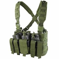 Condor MCR5 OD Green Double Stack Kangaroo Pistol/Rifle Magazine Pouch Chest Rig