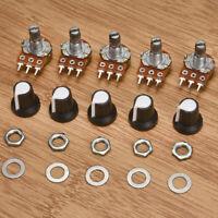 5Pcs 10K OHM 3 Terminal Linear Taper Rotary Resistor Potentiometer Knobs New