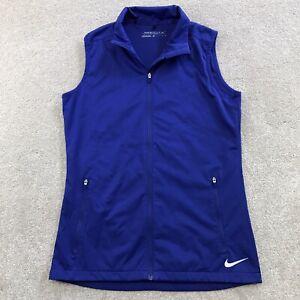 Nike Golf Full Zip Purple Vest Lightweight Mesh Lined Women's Size XS EUC