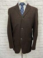 TOWNCRAFT Men's 100% Wool Brown Tweed Sport Coat Blazer 37R