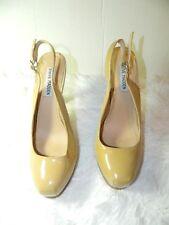 STEVE MADDEN High Heels Nude Beige Stiletto Platform Slingback Size 8.5
