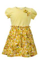 Abbigliamento floreale a manica corta per bambine dai 2 ai 16 anni 100% Cotone