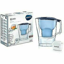 BRITA Aluna 2.4L Cool Water Filter Jug and BRITA Maxtra+ Cartridge Set - Blue (1024023)